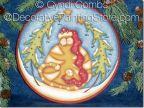 Sweet Wynter Kitty 8 inch Plate Pattern - Cyndi Combs - PDF DOWNLOAD