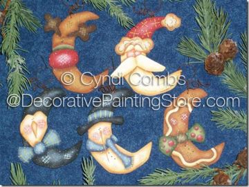 Wynter Thyme Moon Ornaments Pattern - Cyndi Combs - PDF DOWNLOAD