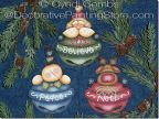 Jolly Jinglers Ornaments Pattern - Cyndi Combs - PDF DOWNLOAD