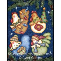 Funky Christmas Chickens 4 ePattern - Cyndi Combs - PDF DOWNLOAD