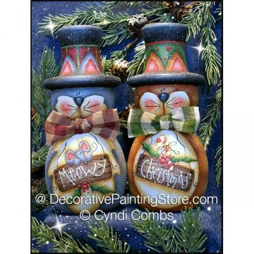 Meowy Christmas.Meowy Christmas Cats Candle Holders Epattern Cyndi Combs Pdf Download