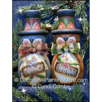 Meowy Christmas Cats Candle Holders ePattern - Cyndi Combs - PDF DOWNLOAD