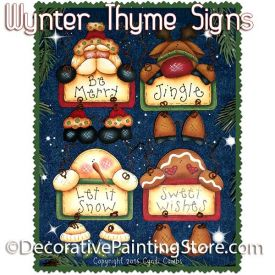 Wynter Thyme Sign Ornaments ePattern - Cyndi Combs - PDF DOWNLOAD