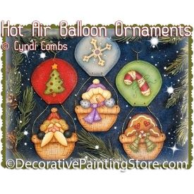 Holiday Hot Air Balloon Ornaments ePattern - Cyndi Combs - PDF DOWNLOAD