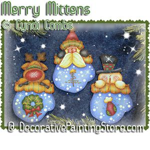 Merry Mitten Ornaments ePattern - Cyndi Combs - PDF DOWNLOAD