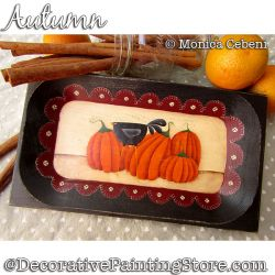 Autumn (Pumpkins and Crow) Painting Pattern PDF Download - Monica Cebeni