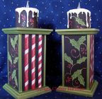 Holly & Ivy Candlesticks e-Pattern - Christy Hartman - PDF DOWNLOAD