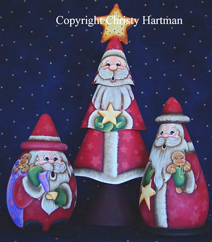 First Star I See Tonight Santas e-Pattern - Christy Hartman - PDF DOWNLOAD