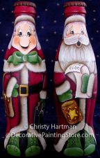 Coke Bottle Santa and Mrs. Claus ePattern - Christy Hartman - DOWNLOAD