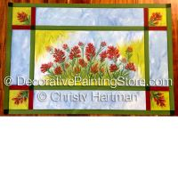 Scarlet Paintbrush Floorcloth e-Pattern - Christy Hartman - PDF DOWNLOAD