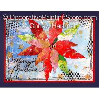 Geli-Printed Cards-Tree and Poinsettia e-Pattern - Christy Hartman - PDF DOWNLOAD