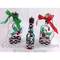 Holly and Ivy Bottle Ornaments e-Pattern - Christy Hartman - PDF DOWNLOAD