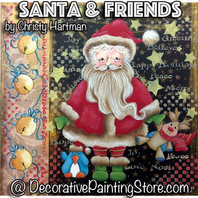 Santa and Friends e-Pattern - Christy Hartman - PDF DOWNLOAD