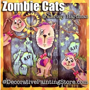 Zombie Cats e-Pattern - Christy Hartman - PDF DOWNLOAD