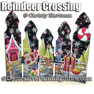 Reindeer Crossing Christmas Pickets e-Pattern - Christy Hartman - PDF DOWNLOAD