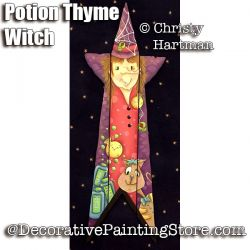 Potion Thyme Witch Picket e-Pattern - Christy Hartman - PDF DOWNLOAD