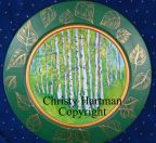 Aspen Grove Plate e-Pattern - Christy Hartman - PDF DOWNLOAD