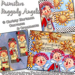 Primitive Raggedy Angels Multi Media Painting Pattern PDF DOWNLOAD - Christy Hartman