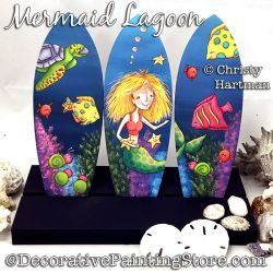 Mermaid Lagoon Painting Pattern PDF DOWNLOAD - Christy Hartman