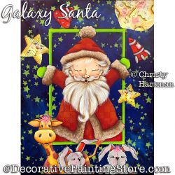 Galaxy Santa Painting Pattern PDF DOWNLOAD - Christy Hartman