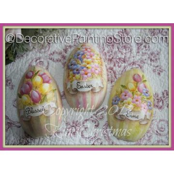 Blessed Easter Time Puffed Eggs ePattern - Kim Christmas