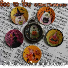 Boo to You Pocket Watch Pins ePattern - Kim Christmas