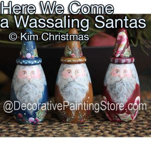 Here We Come A Wassaling Santas ePattern - Kim Christmas