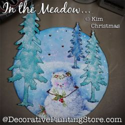 In the Meadow Ornament (Snowman) ePattern - Kim Christmas