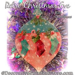 Retro Christmas Eve Ornament ePattern - Kim Christmas