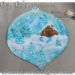 Cozy Cabin Ornament ePattern - Kim Christmas