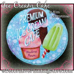 Ice Cream Cafe Stepping Stone Painting Pattern PDF Download - Kim Christmas