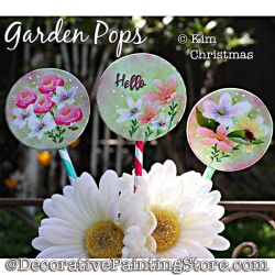 Garden Pops (Plant Sticks) Painting Pattern PDF Download - Kim Christmas