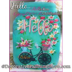 Hello Painting Pattern PDF Download - Kim Christmas