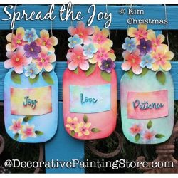 Spread the Joy Painting Pattern PDF Download - Kim Christmas