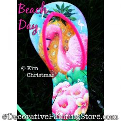 Beach Day (Flip Flop) Painting Pattern PDF Download - Kim Christmas