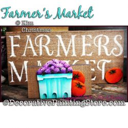 Farmers Market Painting Pattern PDF Download - Kim Christmas