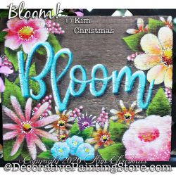 Bloom Painting Pattern PDF Download - Kim Christmas