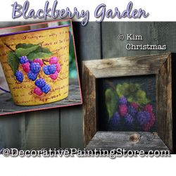 Blackberry Garden Painting Pattern PDF Download - Kim Christmas