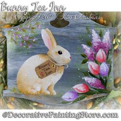 Bunny Tea Inn Painting Pattern PDF Download - Kim Christmas