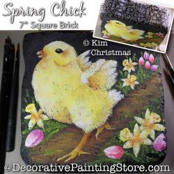 Spring Chick Painting Pattern PDF Download - Kim Christmas