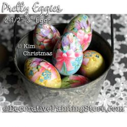 Pretty Eggies Painting Pattern PDF Download - Kim Christmas