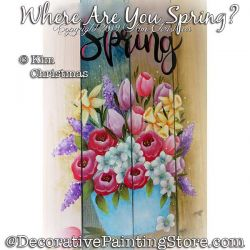 Where R U Spring? Painting Pattern PDF Download - Kim Christmas