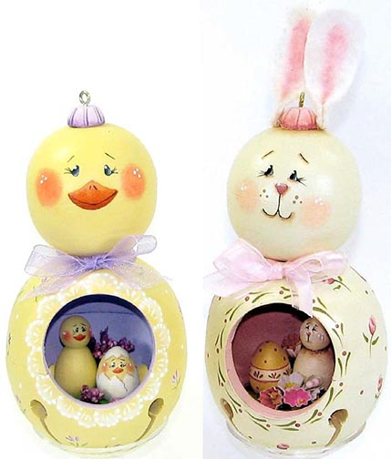 Double Stack Easter Ornaments e-Pattern DOWNLOAD
