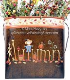 Autumn Wall Pocket Pattern BY DOWNLOAD