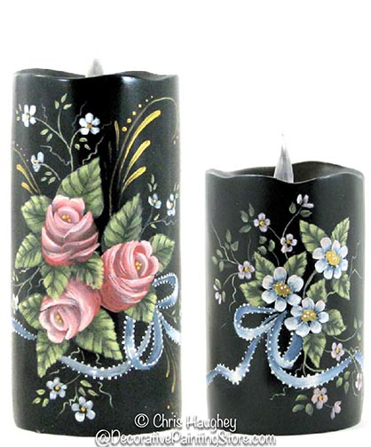 Floral Candles e-Pattern-Chris Haughey - PDF DOWNLOAD