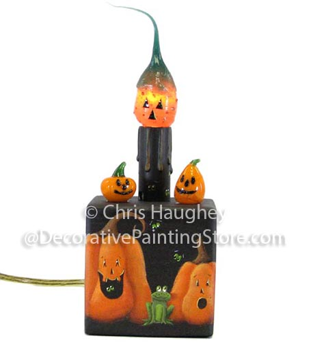 Pumpkin Patch Candle and Holder Pattern BY DOWNLOAD