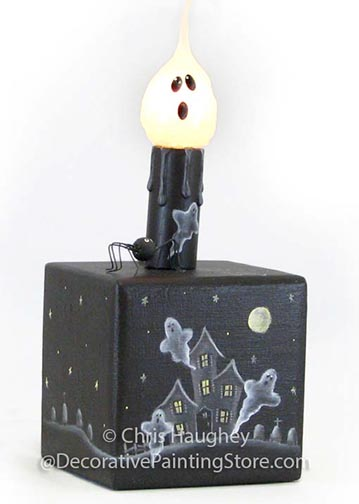 BooVille Haunted Mansion Candle and Holder Pattern BY DOWNLOAD
