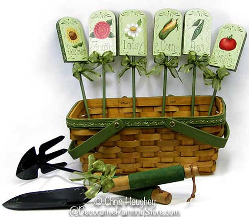 Garden Basket, Tools & Plant Stakes e-Pattern DOWNLOAD