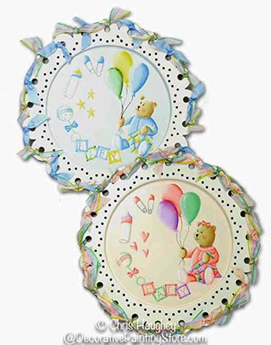 Lacy Baby Plates Pattern DOWNLOAD