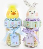 Bunny & Chick Jar Toppers and Tags e-Pattern DOWNLOAD